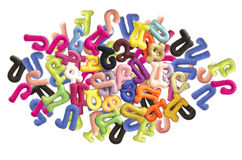 Armenian alphabet for preschoolers stitched from felt fabric Stock Images