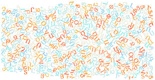 Armenian alphabet texture background Stock Photo
