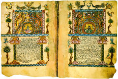 Armenian Antique Book Closeup. Royalty Free Stock Images