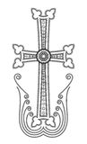 Armenian Apostolic Church cross clip art. Traditional Armenian Apostolic Church cross clip art. Vector illustration Royalty Free Stock Images