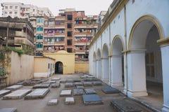 Armenian Apostolic Church of the Holy Resurrection and it`s old grave yard in Dhaka, Bangladesh. Stock Photography