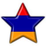 Armenian button flag star shape. 3d made Stock Photography