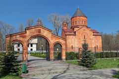 Armenian c Church. Armenian Apostolic Church of St. Stepanos, Kaliningrad city, Russia Stock Images