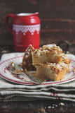 Armenian cake with nutmeg, walnuts and maple syrup Stock Images