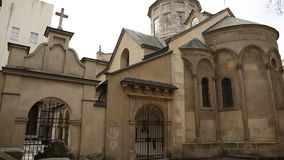 Armenian Cathedral of the Assumption of Mary in Lviv, Western Ukraine stock video