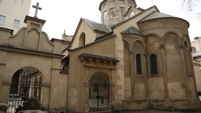 Armenian Cathedral of the Assumption of Mary in Lviv, Western Ukraine stock video footage
