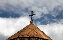 The Armenian Cathedral Church of the Holy Cross. Christian cross stock images
