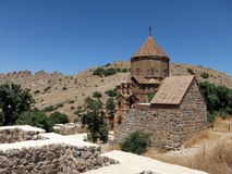 Armenian Cathedral of the Holy Cross on Akdamar Island Stock Images