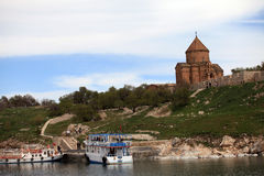 Armenian Cathedral in Van City,Turkey. Royalty Free Stock Images