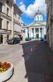 Armenian-Catherine Kirche auf Nevsky-Aussicht in St Petersburg Stockfotos