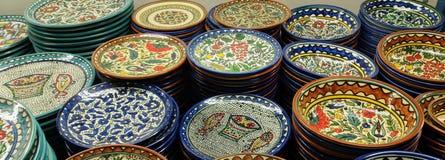 Armenian ceramic plates Royalty Free Stock Images