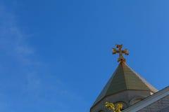 Armenian church cross sky Stock Photos