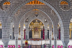 In Armenian church. DIYARBAKIR, TURKEY - JANUARY 15, 2015: The interior of the Apostolic Armenian church, that is one of the largest and most important churches Stock Photography