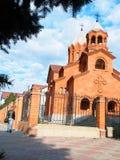 Armenian church. A parishioner Stock Photo