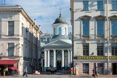 Armenian Church of St. Catherine near Nevsky Street. RUSSIA, SAINT PETERSBURG - AUGUST 18, 2017: The Armenian Church of St. Catherine near Nevsky Street in St Stock Image