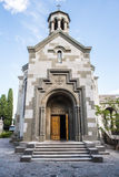 Armenian Church of St. Ripsime in Yalta. Armenian Church of St. Ripsime stands on a high hill in Yalta. Main entrance to the church is open to parishioners Royalty Free Stock Photos
