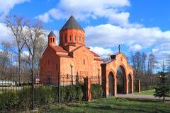 Armenian Church of St Stephanos in Kaliningrad. Sp. KALININGRAD, RUSSIA — APRIL 1, 2014: St. Stephanos church - church of the Armenian Apostolic Church in Royalty Free Stock Photos