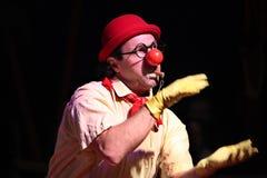 Armenian clown Gosha Grigoryan performs in the Humberto Circus. Royalty Free Stock Photos