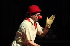 Armenian clown Gosha Grigoryan performs in the Humberto Circus. Stock Photography