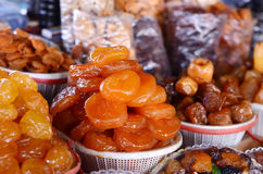 Armenian dried sweet fruits in market. Armenian dried sweet fruits in the market Stock Image