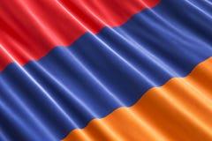 Armenian flag background, 3D. Rendering Stock Image