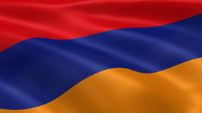 Armenian flag in the wind stock video