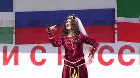 Armenian folk dance stock video