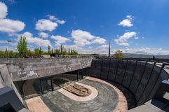 Armenian Genocide memorial complex 24 April 2015 Armenia, Yerevan. Armenia's official memorial dedicated to the victims of the Armenian Genocide, Every year on Stock Photography