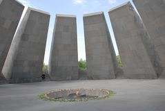 The Armenian Genocide memorial complex on the hill of Tsitsernakaberd in Yerevan, Armenia royalty free stock photos