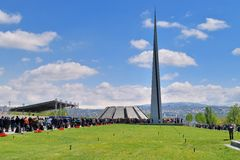 The Armenian Genocide memorial complex Royalty Free Stock Images
