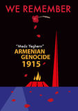 Armenian Genocide Memorial concept. Editable Clip Art. Royalty Free Stock Image
