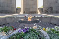 The Armenian Genocide museum, Yerevan royalty free stock photography