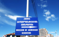 Armenian Genocide Sign Stock Image