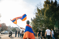 Armenian genocide 100th  rememberance march in France Royalty Free Stock Images