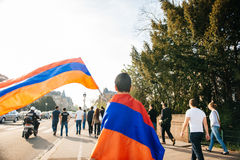 Armenian genocide 100th  rememberance march in France Royalty Free Stock Image