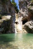 Armenian gorge in New Afon, Abkhazia. Armenian gorge with waterfall and lake in New Afon Abkhazia Royalty Free Stock Photo