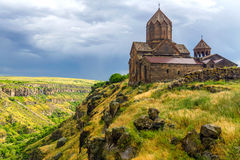 Armenian Hovannavank monastery Stock Photo