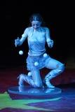 Armenian juggler Stefania Grigoryan performs in the Humberto Circus Royalty Free Stock Images