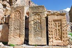 Armenian Khachkars , cross-stones. Armenian Khachkars are symbols of national identity royalty free stock photos