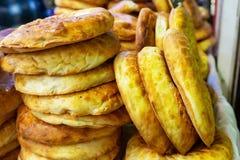 Armenian lavash. Round white bread. royalty free stock photo