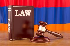 Armenian law and justice concept, 3D rendering. Armenian law and justice concept, 3D Stock Photography