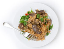 Armenian liver pilaf Royalty Free Stock Photo