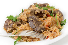 Armenian liver pilaf Stock Images