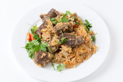 Armenian liver pilaf Royalty Free Stock Photography