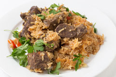 Armenian liver pilaf Stock Photos