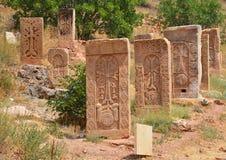 Armenian medieval cross stones Stock Images