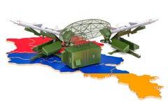 Armenian missile defence system concept, 3D rendering. Armenian missile defence system concept, 3D Stock Images