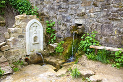 Armenian monastery. Saint water Stock Photography