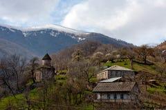 Armenian mountain town. Background of armenian mountain town Dilijan stock photo