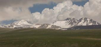 Armenian Mountains Aragats Mountains.  Stock Photo